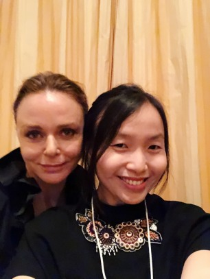 "with Stella McCartney during the dinner session ""You Are What You Wear"""