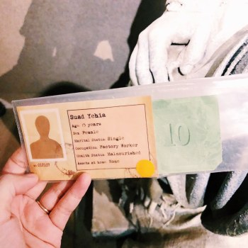 """My """"identity"""" for 20 minutes during the A Day in the Life of a Refugee simulation"""